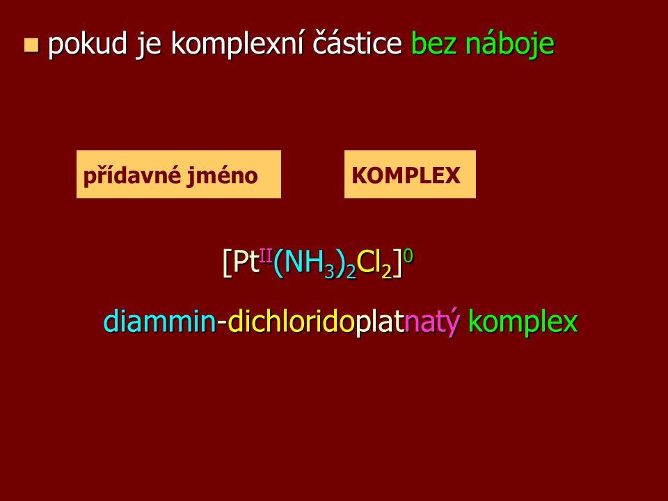 [PtII(NH3)2Cl2]0 diammin-dichloridoplatnatý komplex
